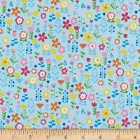 Andover/Makower UK Ellie Floral Blue