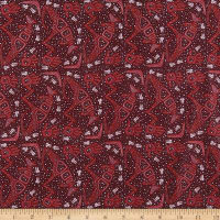 M&S Textiles Rock Art Dreaming Burgandy
