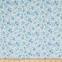 Lecien Memoire A Paris 2018 Lawn Small Floral White/Blue