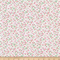 Gertie Printed Rayon Challis Ditzy Cream/Pink