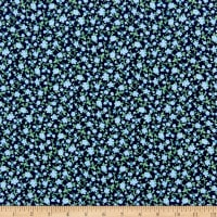 Gertie Printed Rayon Challis Ditzy Navy/Blue