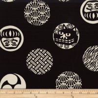 Kokka Japanese Design Emblem Canvas Black