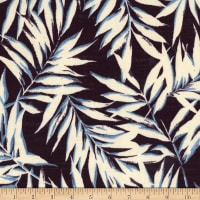 Kokka Resort Leaf Tropical Leaves Canvas Navy