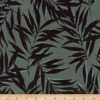 Kokka Resort Leaf Tropical Leaves Canvas Grey