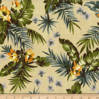 Kokka Resort Tropical Floral Canvas Tan