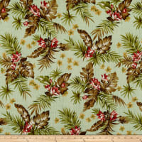Kokka Resort Tropical Floral Canvas Light Green