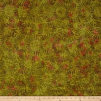 Tuscan Garden Sunflower Batik Olive/Orange