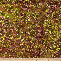 Tuscan Garden Sunflower Batik Brown/Yellow/Pink