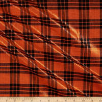 Mytar Large Plaid Metallic Orange/Black