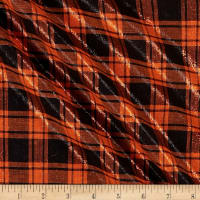 Mytar Large Plaid Metallic Black/Orange