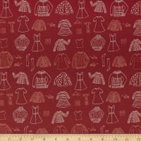 Art Gallery Little Clementine Papercut Wardrobe Crimson