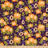 Springs Creative Seasonal Halloween Happy Haunting Pattern Multi