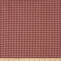Homebas Homespun Medium Check Burgundy