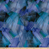 "Plume 108"" Digital  Feather Texture Blue"