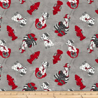 Thin Red Line Dalmatian Gray