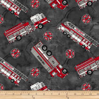 Thin Red Line Fire Engines Charcoal