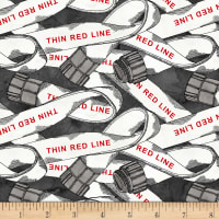 Thin Red Line Fire Hose Charcoal