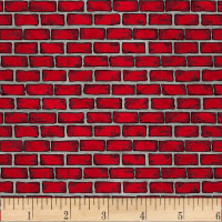 Thin Red Line Bricks Red