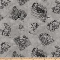 Thin Red Line Toile Gray