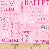 Tutus & Toe Shoes Words Pink