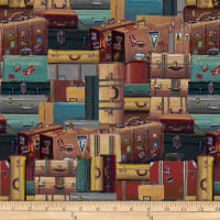 Locomotion Stacked Luggage Brown