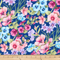 Papillion Parade Large Floral Dark Blue
