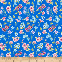 Papillion Parade Small Floral Medium Blue