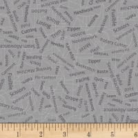 Betterstitch Sewing Words Grey