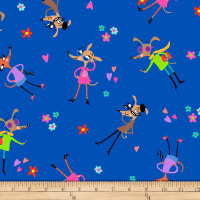 QT Fabrics Amanda Haley Dogtown Tossed Dogs Dark Royal