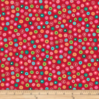 QT Fabrics Christine Graf Jamboree Dot Geometric Cherry Red