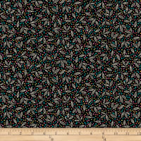 QT Fabrics Christine Graf Jamboree Leaf & Dots Black