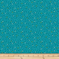 QT Fabrics Christine Graf Jamboree Mini Scroll Dark Turquoise
