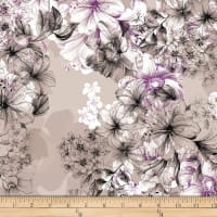 QT Fabrics  Juliette Large Floral Toile Grey
