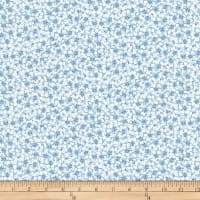 QT Fabrics  Juliette Packed Floral Chambray Blue