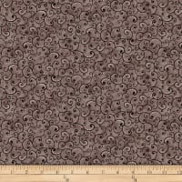 QT Fabrics  Juliette Scroll Smoke