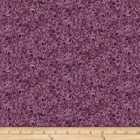 QT Fabrics  Juliette Scroll Plum