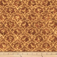 QT Fabrics Dan Morris Lost World Dinos Damask Brown