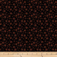 QT Fabrics Desiree North Woods Neighbor Animal Tracks Black