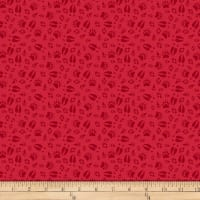QT Fabrics Desiree North Woods Neighbor Animal Tracks Red