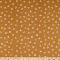 QT Fabrics Desiree North Woods Neighbor Snowflakes Tan