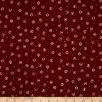 QT Fabrics Desiree North Woods Neighbor Snowflakes Brown