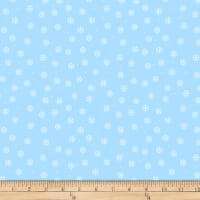 QT Fabrics Desiree North Woods Neighbor Snowflakes Light Blue