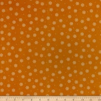 QT Fabrics Desiree North Woods Neighbor Snowflakes Gold
