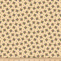 QT Fabrics  Echo Circle Geometric Toss Cream