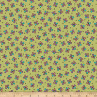 QT Fabrics  Echo Circle Geometric Toss Light Green