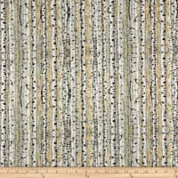QT Fabrics Timberland Trail Birch Trees Tan