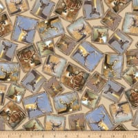 QT Fabrics Deer Valley Framed Deer Cream