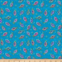 QT Fabrics Faith Fish Dark Aqua