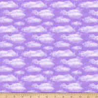 QT Fabrics Faith Clouds Lavender
