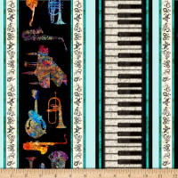 "QT Fabrics Fine Tuning Instrument 10 1/2"" Stripe Light Aqua"
